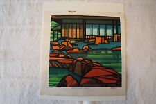 Signed Clifton Karhu Japanese Woodblock Print Katsura Pond - 1977  number 1/100