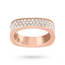 Swarovski Ring Genuine Rose Gold Plated Crystal Vio Size 52