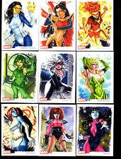 Marvel Dangerous Divas series 2 Artifex 9 card set