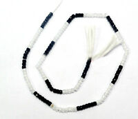 "Black & White Zircon Gemstone 3-4 mm Rondelle Faceted Loose Beads 13"" Strand"