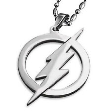 The FLASH Necklace Stainless Steel Lightning Bolt Pendant & Ball Chain New