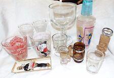 Lot of HUMOROUS Barware MANCAVE ITEMS Cocktail Glasses COASTERS Shot Glass &MORE