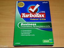 LOOK *Retail*  2008 TURBOTAX BUSINESS CD for CORPORATION ESTATE TRUST TURBO TAX