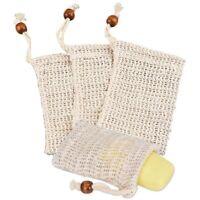 4x Seifenbeutel,Seifensäckchen Ramie,Seifensäckchen Bio,Seifensack,für Aufs K7W5