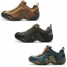 Merrell Intercept Hiking Shoes in Moth Brown & Blue Wing & Black