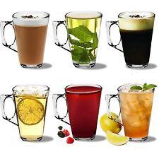Latte Glasses Cappuccino Glass Tassimo Costa Coffee Cups Mugs - 250ml - x6