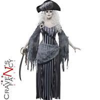 Ladies Zombie Pirate Ghost Ship Princess Costume Womens Halloween Fancy Dress