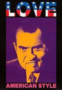 "POP ART POSTER ~ Frank Kozik 1999 LOVE: American Style Richard Nixon 24x34"" NOS"