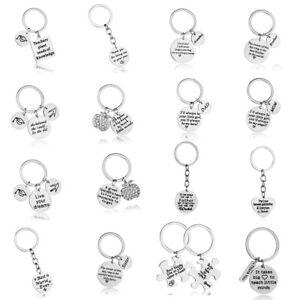 Stainless Steel Family Keyring Keychain Key Chain Jewelry Teacher Mom Dad Sis