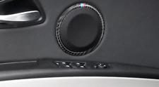 Carbon Fiber Door Speaker Loud Cover Sticker Trim For BMW E90 3 Series E84 X1