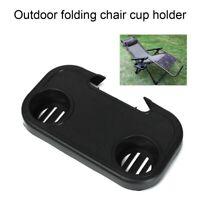 Portable Folding Camping Picnic Outdoor Beach Garden Chair Side Tray Drink LIUB