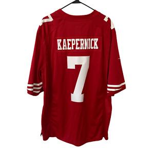 Nike On Field Colin Kaepernick Jersey 7 SEWN San Francisco 49ers NFL Size 2XL