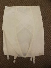 "Feminine Vtg 1950s NEW Rubber Criss Cross Support Girdle w/ Garters 33/34"" Waist"