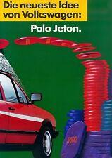 VW Polo Jeton Prospekt 4 S. brochure Auto PKWs Autoprospekt Volkswagen Verkehr