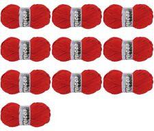 Lot de 10 Pelote de laine Tradition Tricot Etoile: Rouge