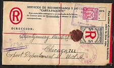 Panama covers 1926 Registered Letter to Chicago