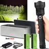 LED Tactical Flashlight Rechargeable 120000 Lumens CREE Torch Taclight Zoomable