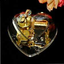 HEART SHAPE WIND UP MUSIC BOX  :  BEAUTY & THE BEAST