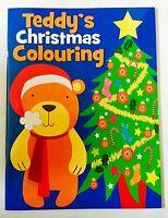 Christmas Colouring Book Santa Teddy Bear  Colouring Book Free Postage Xmas Fun