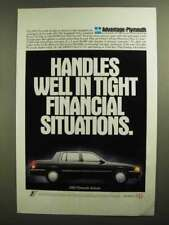 1992 Plymouth Acclaim Ad - Tight Financial Situations