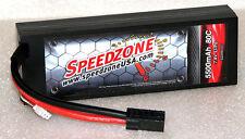 Speedzone 5500mAh 80C Hard Case Lipo Battery 2S 7.4V 1/10 Traxxas Stampede 4x4