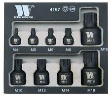 Welzh Werkzeug Low Profile Stubby Short Impact Spline XZN Bit Socket Set M4-M18