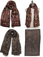 New Collection XIIX Paisley Shawl Wrap Scarf in 2 Colors $38 Tags
