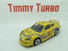 BURAGO PORSCHE 911 CARRERA 1:43 RACE TRIM IN YELLOW