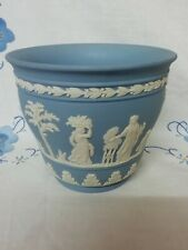 Vintage Wedgwood Jasperware Plant Flower Cache  Pot Dated 1975