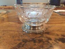 vintage Glass Divided Serving Dish
