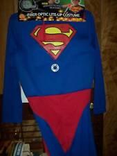 SUPERMAN NEW HALLOWEEN COSTUME w/FIBER OPTICS Med 8-10