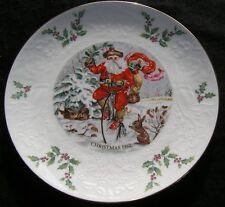 Fantastic Royal Doulton Christmas 1982 Collector Plate Santa Angels Mistletoe