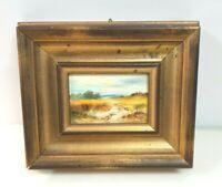 Br)  Vintage Ölgemälde im Holzrahmen Signiert B.Kolb 1988 Natur