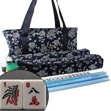 166 Tiles American Mahjong Set Blue Phoenix Soft Bag 4 Color Pushers/Racks