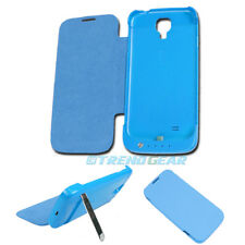 3500MAH EXTERNAL BACKUP BATTERY POWER BANK CASE COVER BLUE SAMSUNG GALAXY S IV