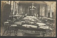 Postcard RMH Eastney Barracks Portsmouth Hampshire the Reading Room 1907 navy RP