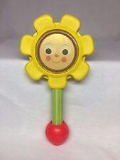 Vintage 1973 Fisher Price #424 Flower Rattle Baby Toy Mirror