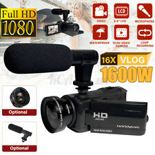18x Zoom 1080P HD Digital Camcorder Video Vlogging Camera External Mic DV