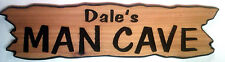 """""""MAN CAVE"""" Carved Wood Sign, WESTERN RED CEDAR, Excellent  Personalized Gift!"""