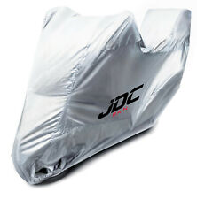 JDC Waterproof Motorcycle Cover Motorbike Breathable Silver UV RAIN - XL Top Box