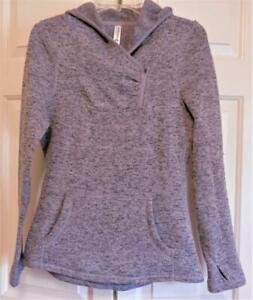 Womens Teens Kyodan Outdoor Lilac Fitted Fleece Hoodie w/ Zipper Size Med