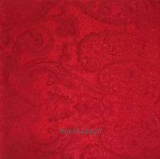 New Lauren Ralph Lauren Red Paisley Damask 70 x 104 Oblong Fabric Tablecloth