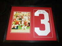 Roger Craig Signed Framed 16x20 Jersey # & Photo Set JSA 49ers D