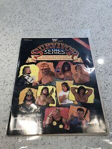 WWF WWE Survivor Series Program November 23, 1989! Inserts And Catalog Intact!
