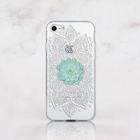 Succulent iPhone 11 Case Mandala iPhone SE 7 8 Slim Cover iPhone 12 Mini X XS XR