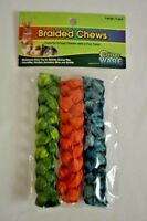 Critter Ware Braided Chews for Rabbits Hamsters Mice Rats Small Animals 3 Pack