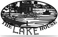 """The Lake House"" Metal Art Wall Decor"