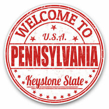 2 x Vinyl Stickers 30cm - Welcome Pennsylvania USA Cool Gift #5896