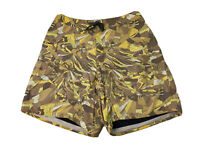 Patagonia Mens Size 35 Brown & Yellow Floral Print Swim Board Shorts GUC