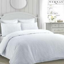 Ruched Seersucker Duvet Cover jasmine Stripe Pillowcases Bed linen Quilt Bedding